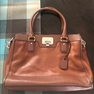 Cole Haan leather medium brown tote / purse